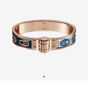 Authentic Hermes Uni hinged bangle bracelet